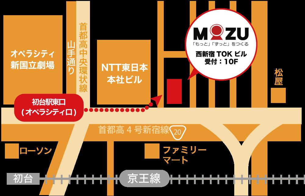 株式会社MOZU本社地図